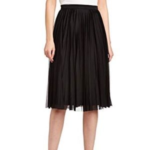 French connection black pleated skirt